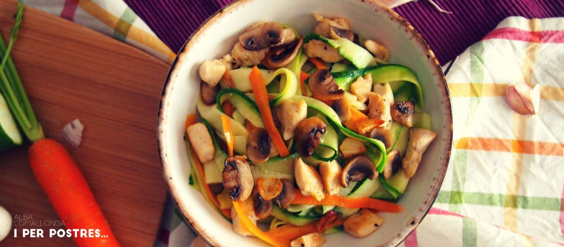 Tallarines vegetals